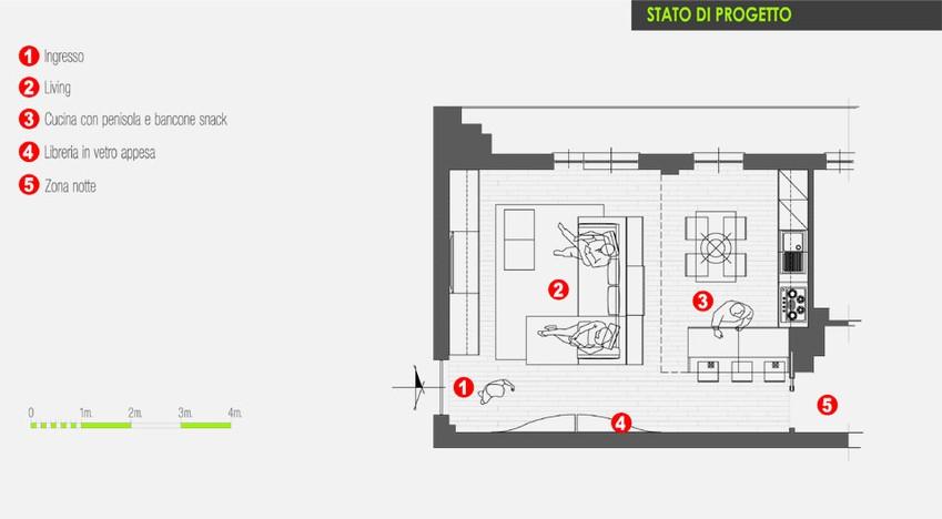 Progetto Soggiorno Cucina A Vista – Idea d\'immagine di decorazione