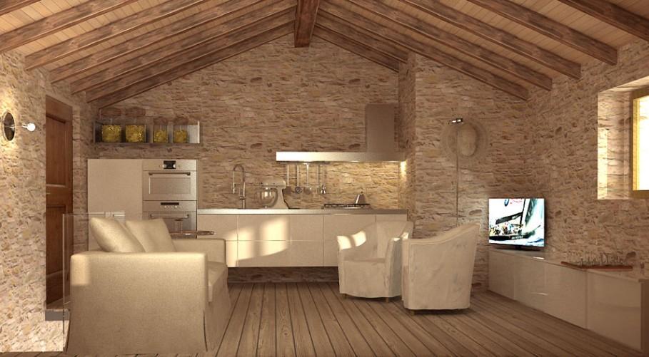 Arredamento rustico casa for Arredamento minimale