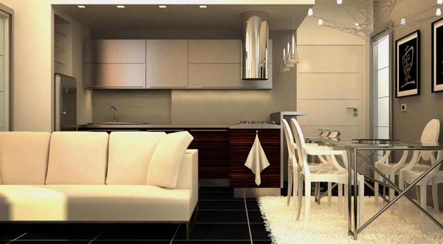 Affordable cucina a vista sul living with arredare casa online for Dove trovare i progetti per una casa