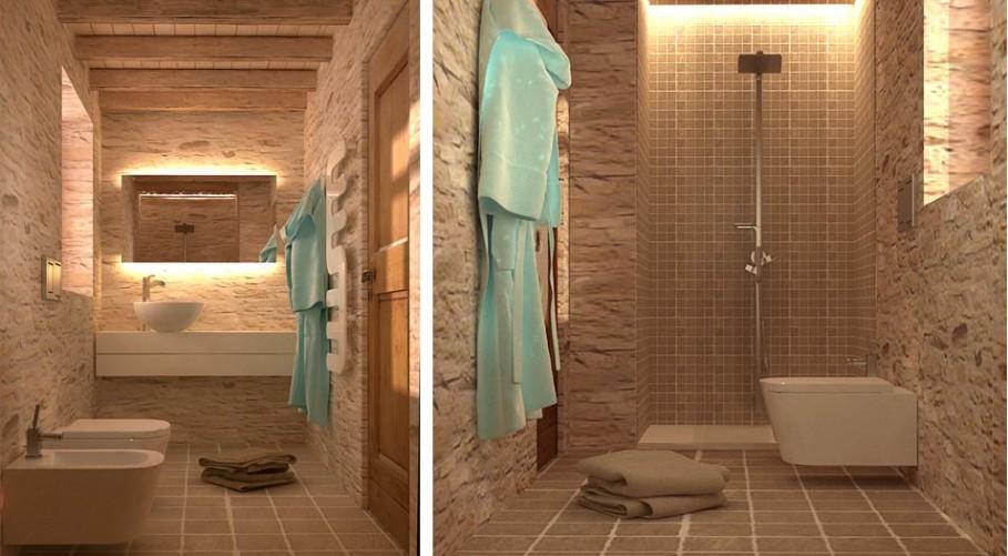 Bagni Rustici In Muratura Foto : Bagni in muratura rustici. great bagno con doccia in muratura con
