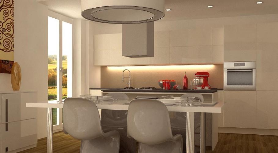 Progetto ambiente unico cucina soggiorno tutte le for Ristrutturare appartamento 75 mq