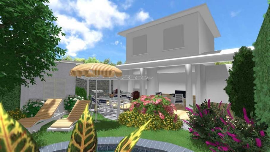 Excellent progetto piccolo giardino with come arredare un - Arredare piccolo giardino ...