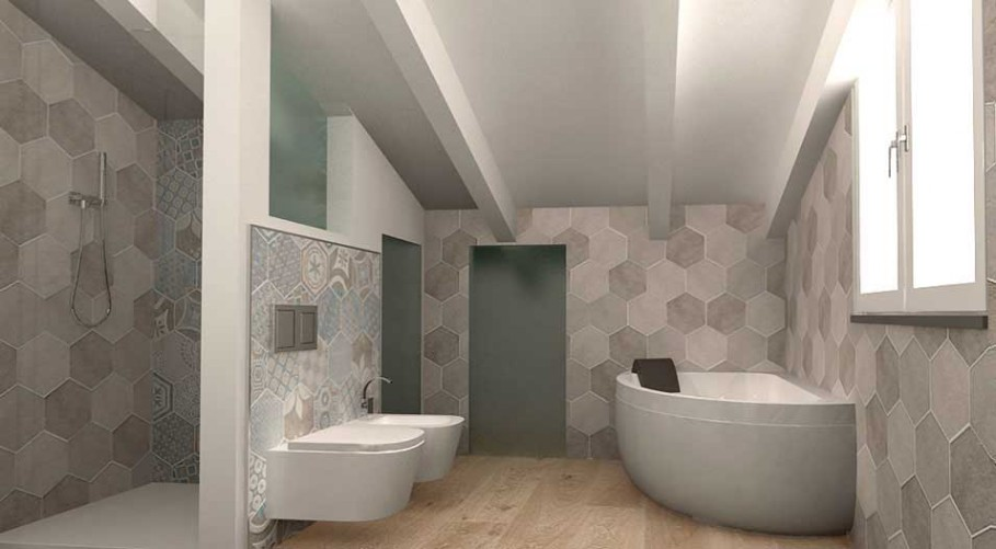 Il progetto di un bagno in mansarda architetto on line come