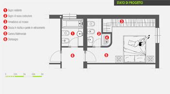 Internieprogetti architetto on line ristrutturare arredare architetto on line come - Planimetria bagno piccolo ...