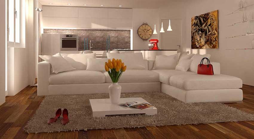Arredare soggiorno con angolo cottura 30 mq for Soggiorno living
