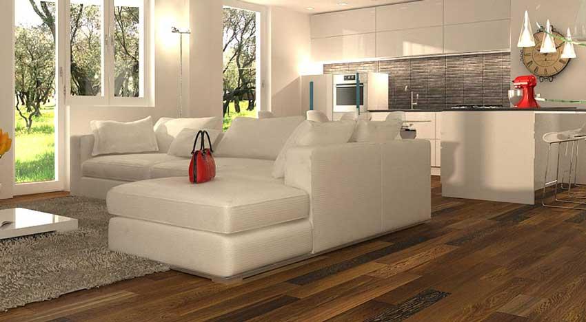 Arredare un soggiorno con cucina a vista - Architetto On ...