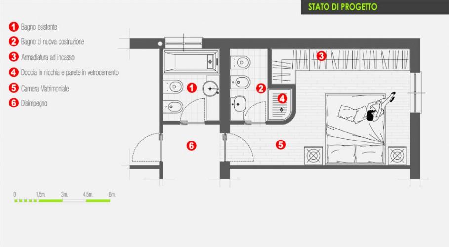Ricavare Un Bagno In Camera Architetto On Line Come Arredare
